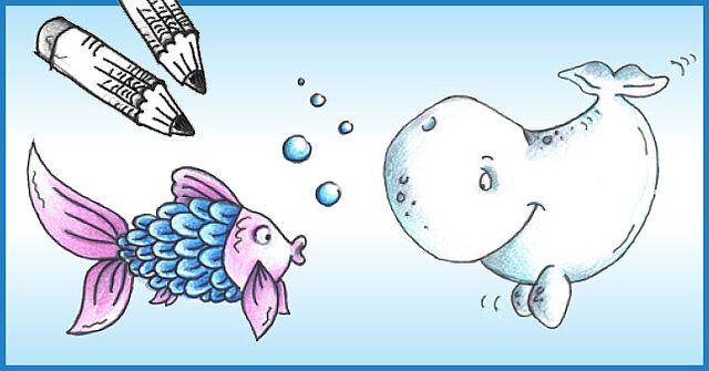 Witzige Meeresbewohner zeichnen!