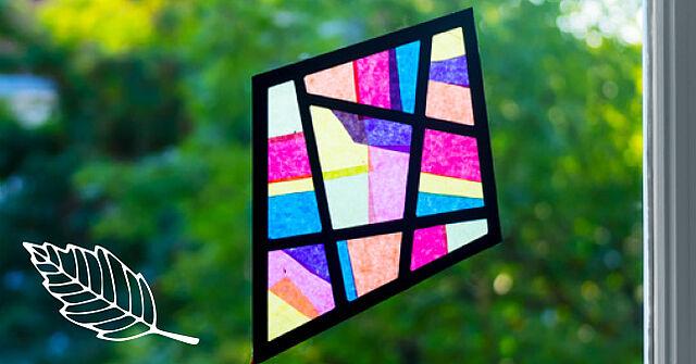 Strahlende Farben im Herbst – Bastelt kunterbunte Fensterbilder