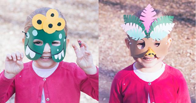 Kunterbunte Maskerade – Faschingsmasken kinderleicht selbstgemacht