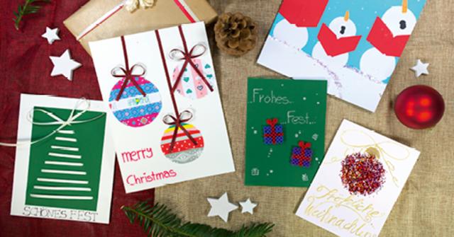 Versendet liebe Weihnachtsgrüße – mit selbstgestalteten Weihnachtskarten