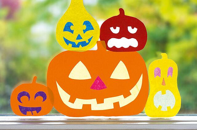 Halloween: Kürbisse für's Fenster!