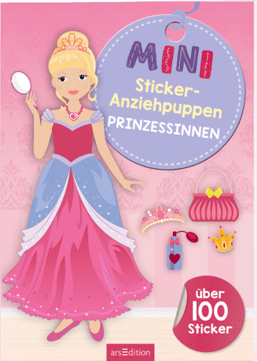 Mini-Sticker-Anziehpuppen Prinzessinnen