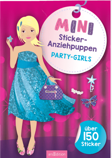 Mini-Sticker-Anziehpuppen Party-Girls