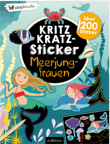 Kritzkratz-Sticker Meerjungfrauen