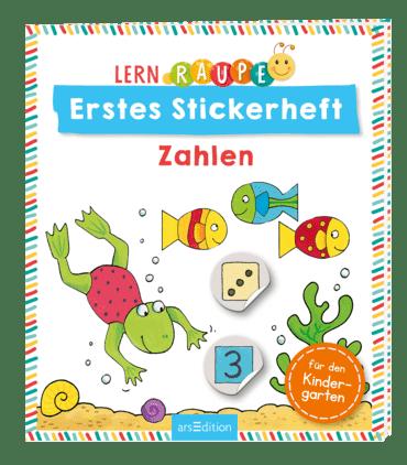 Lernraupe - Erstes Stickerheft -  Zahlen