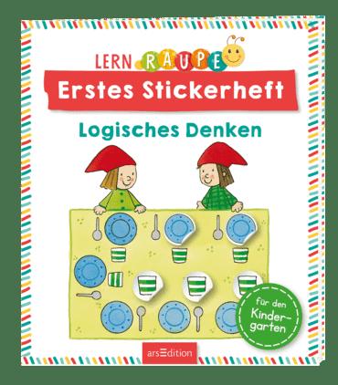 Lernraupe - Erstes Stickerheft - Logisches Denken