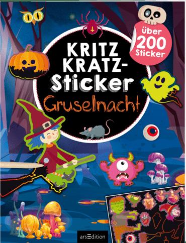 Kritzkratz-Sticker Gruselnacht