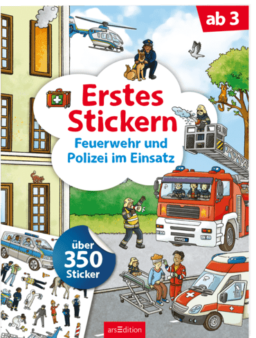 Erstes Stickern – Feuerwehr und Polizei im Einsatz