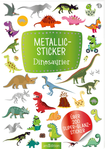 Metallic-Sticker Dinosaurier