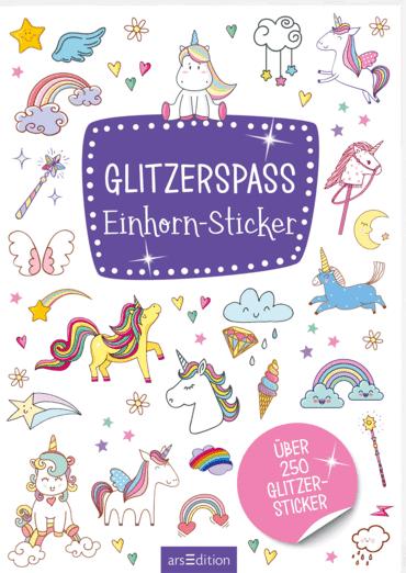 Glitzerspaß - Einhorn-Sticker