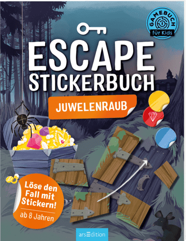 Escape-Stickerbuch - Juwelenraub