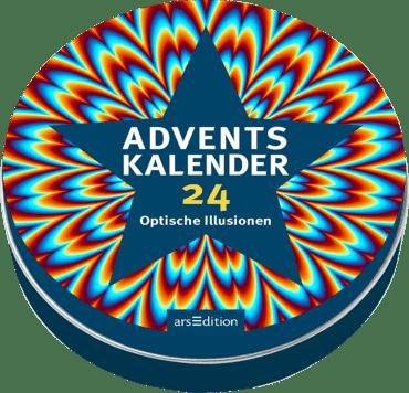 Adventskalender in der Dose - 24 optische Illusionen