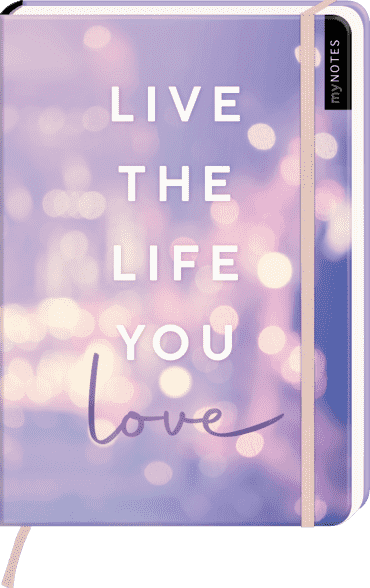 myNOTES Notizbuch A5: Live the life you love
