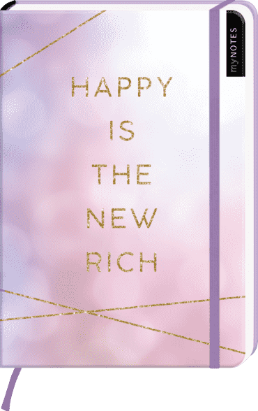 myNOTES Notizbuch A5: Happy is the new rich