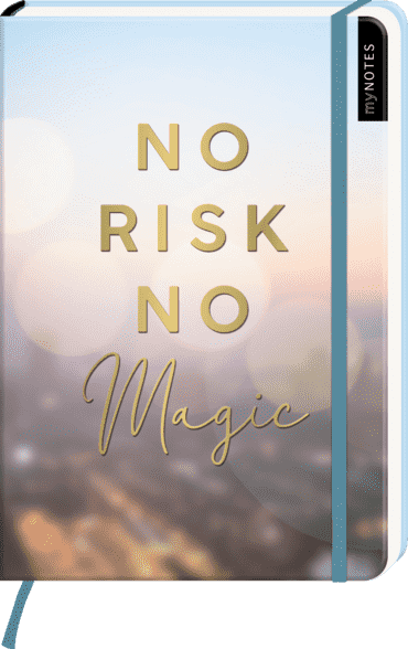 myNOTES Notizbuch A5: No Risk, no magic