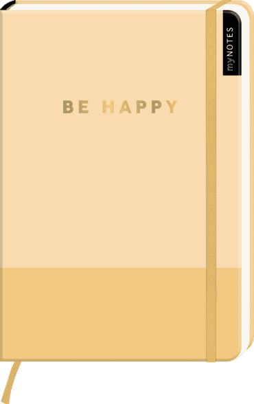 myNOTES Notizbuch A5: Be Happy