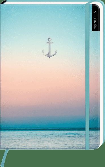 myNOTES Notizbuch A5: Anker und Meer
