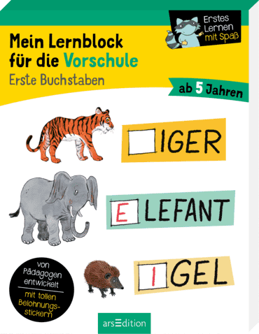 Mein Lernblock für die Vorschule - Erste Buchstaben