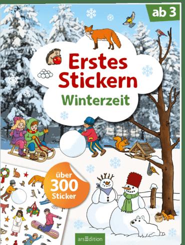 Erstes Stickern – Winterzeit