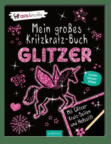 Mein großes Kritzkratz-Buch Glitzer