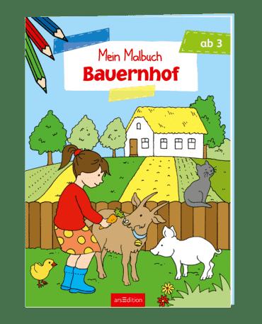 Malbuch ab 3 Jahren - Bauernhof VE 5