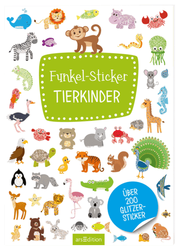 Funkel-Sticker Tierkinder