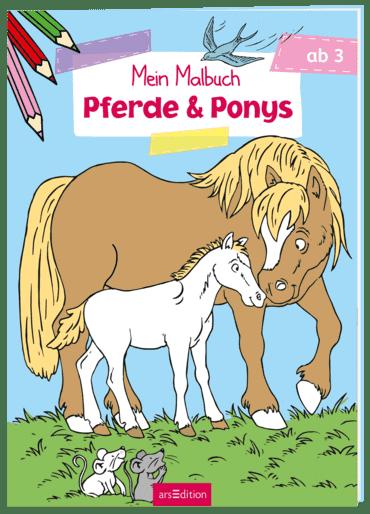 Malbuch ab 3 Jahren - Pferde & Ponys VE 5