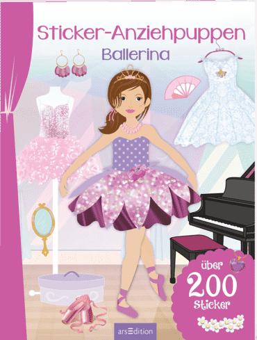 Sticker-Anziehpuppen Ballerina