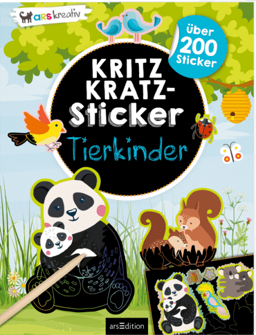 Kritzkratz-Sticker Tierkinder
