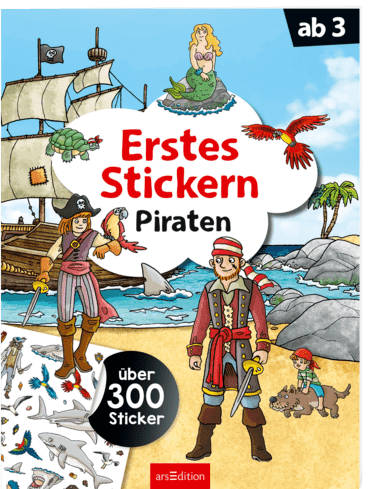 Erstes Stickern Piraten