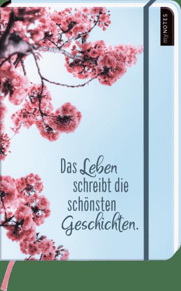 myNOTES Notizbuch A4: Das Leben schreibt die schönsten Geschichten - notebook large, dotted - für Träume, Pläne und Ideen / ideal als Bullet Journal oder Tagebuch