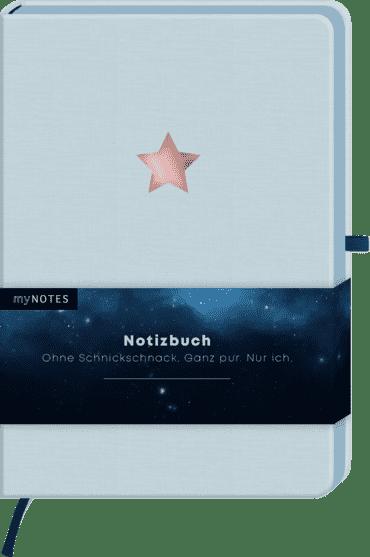 myNOTES Notizbuch Classics Stern hellblau - Notizbuch im Mediumformat für Träume, Pläne und Ideen