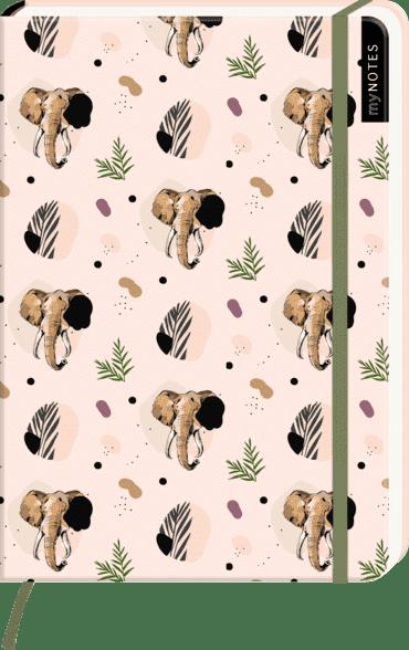 myNOTES Notizbuch A5: Elefanten