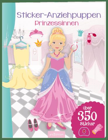 Sticker-Anziehpuppen - Prinzessinnen